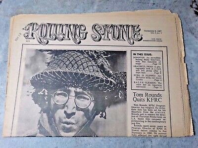 First Issue Of Rolling Stone John Lennon Cover Vol. 1 #1 Nov. 9 1967 Original