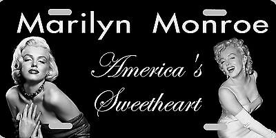 "Marilyn Monroe America's Sweetheart Photo License Plate Sign 12""x6"" NEW Official"