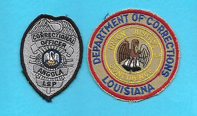 Louisiana- 2 Dept Of Corrections - Rare Old Style & Angola State Prison