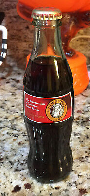 Unopened January 13 2003 Inauguration of Gov. Sonny Perdue GA Coca-Cola Bottle
