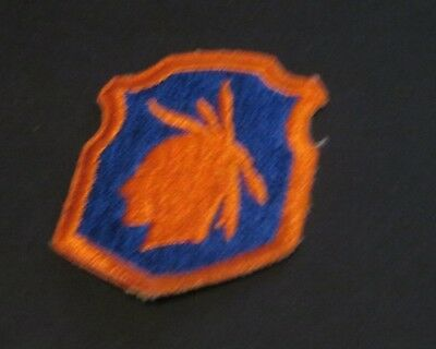 Vintage Orange & Blue Native Picture Fabric Embroidered  Badge Patch