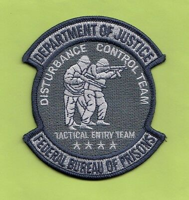 S28 * Fbop Tactical Entry Dct Bureau Prisons Federal Agent Sort Police Patch Fbi