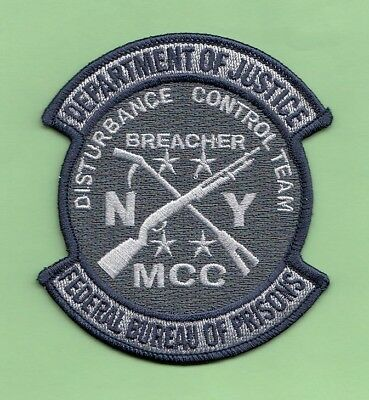 S31 * Fbop Ny Breacher Dct Bureau Prisons Federal Agent Sort Police Patch Fbi
