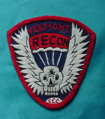 Original Us Army Special Forces Mac-Sog Vermont Recon Ccc Hand Embr. Patch