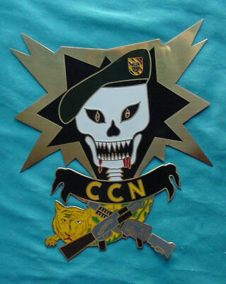 Us Army Special Forces Macv-Sog Skull Shell Burst Large Metal Ccn Brass Plaque