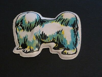 LHASA APSO DOG  puffy sticker refrigerator magnet 1974 BY MAGNETIO HONG KONG