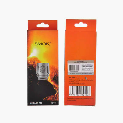 100% Authentic SMOK TFV8 X-Baby - V8 X Baby Beast Brother Coils Q2 / M2 (USA)