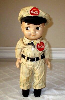 "1950's-BUDDY LEE-COCA-COLA-SALESMAN DOLL-13""-ORG OUTFIT-LEE JEANS TAG-UNION MADE"