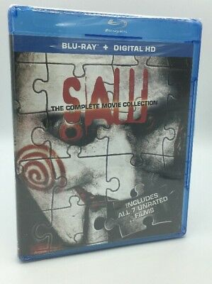 Saw: The Complete Movie Collection 1 2 3 4 5 6 7 (Blu-ray, 2014; 3-Discs) NEW