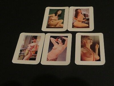 NON-SPORT CARDS MINI NUDE PIN-UP GIRLS 1960s LOT OF 5 LOT#4