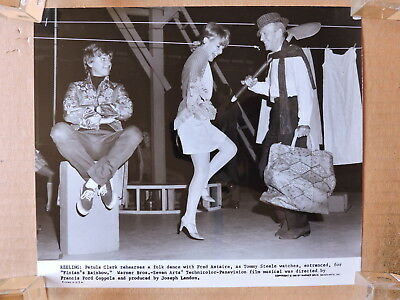 Petula Clark with Fred Astaire and Tommy Steele original leggy candid photo 1968