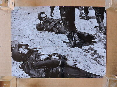 The Longest Day original candid photo dummies with explosives on the beach 1962