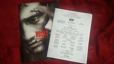 Rocky the Musical Broadway Souvenir Program Rare, with Insert, Andy Karl