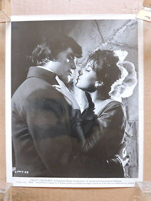 Yvonne Romain kisses Oliver Reed orig Hammer horror photo 1962 Night Creatures
