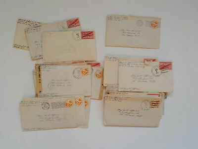 24 WWII Letters Pilot 18th Fighter Group APO Air Force WW2 La Canada California