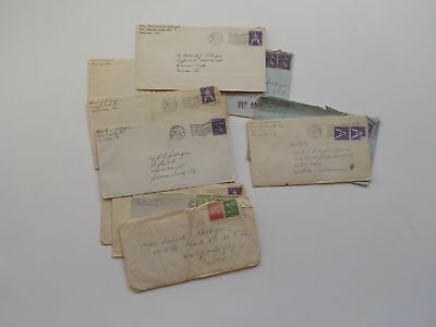 12 WWII Letters 333rd Bomb Group Camp Murphy Florida WW2 Lot World War Two VTG N