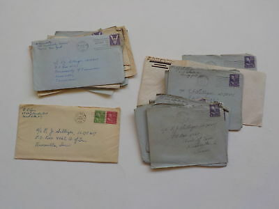 14 WWII Letters 333rd Bomb Group University Of Tennessee Knoxville Lot WW2 VTG N