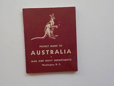 WWII Booklet 1942 Pocket Guide To Australia WW2 Book World War Two VTG Book Old