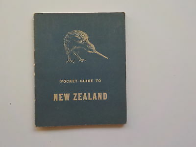 WWII Booklet 1942 Pocket Guide To New Zealand WW2 Book World War Two VTG WW II N