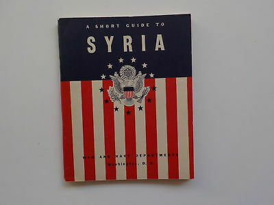 WWII Booklet 1942 Pocket Guide To Syria WW2 Book World War Two VTG Book Old WW 2