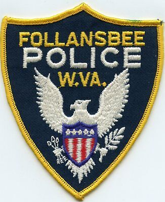 old vintage FOLLANSBEE WEST VIRGINIA WV POLICE PATCH