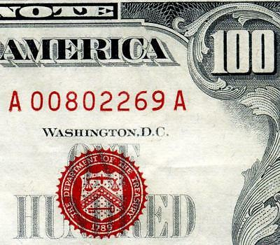 """HGR 1966""""A"""" $100 U.S. Note ((Highly WANTED)) VERY HIGH GRADE"""