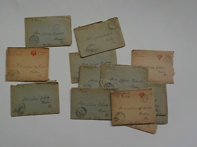 14 WWI Letters AEF Cook Beaume France WW1 Baden Pennsylvania Lot Overseas VTG