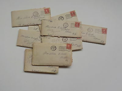 11 WWI Letters AEF Cook Paterson New Jersey WW1 Akron Ohio Lot VTG WW I Old USA