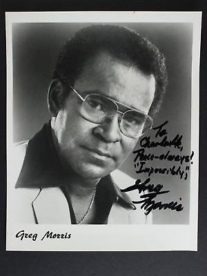 ACOTR GREG MORRIS (1933-1996) (MISSION IMPOSSIBLE) AUTOGRAPH 8 x 10 PHOTO~