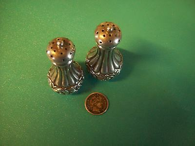 Salt and Pepper casters BY DUHME & CO Sterling silver pair shakers daisy! WoW