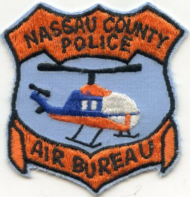old vintage NASSAU COUNTY NEW YORK NY AIR BUREAU aviation POLICE PATCH