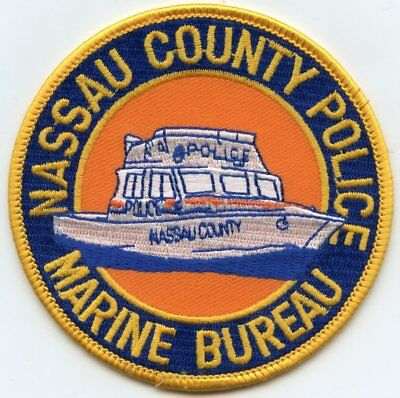 NASSAU COUNTY NEW YORK NY MARINE BUREAU Lake Patrol POLICE PATCH