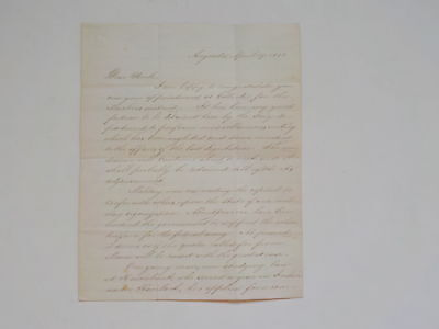 Civil War Letter 1861 Fight Freedom Slavery Machias Maine Kennebunkport In India