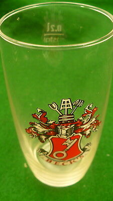 Becks beer glass 8 ounce 0.2L German brewery