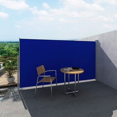 New Wall Side Awning 160x300cm Patio Sun Shade Screen Protection Terrace Blue