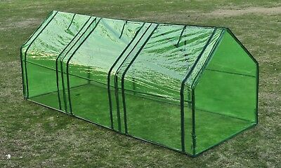 Garden Greenhouse PVC Cover Walk in Green Shade Plant Hot House Storage 0.9x2.4m