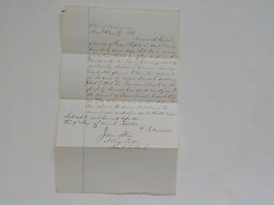 Antique Document 1870 Kent County Michigan Grand Rapids Muskegon County Mortgage