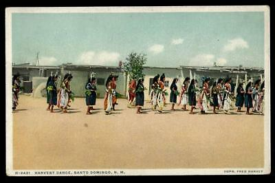 "1¢ Wonder's~ Native Amer. Phostint Pc W/ ""harvest Dance"" Santo Domingo, Nm ~C940"