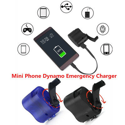 Cell Phone Emergency Charger USB Crank Hand Manual Dynamo For MP3 MP4 Mobile