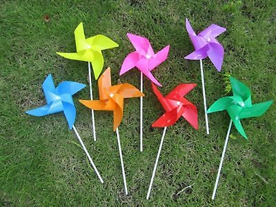 100 New Colourful Single Flower DIY Windmill wholesale Mixed
