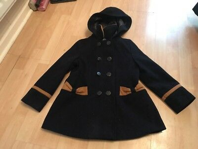 TU Navy Coat Age 5-6 Hood Smart Warm Winter