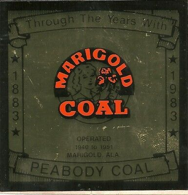 "Peabody Coal Co - Hard Hat- Coal Mining Sticker-Decal ""rare"""
