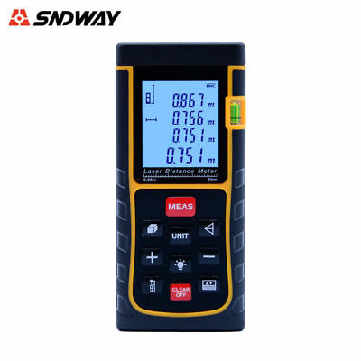 SNDWAY SW-E80 Handheld Laser Distance Meter Measuring Range Finder 80M Home Tool