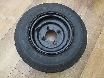 """One unused 8"""" Trailer wheel PCD 3.75"""" 95mm and 4.80-8 tyre"""