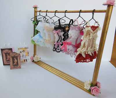 1/12Th Scale Shabby Chic Handmade Corset Shop Rail  --- By Chrischell