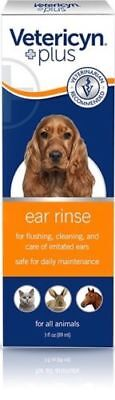 Vetericyn ear rinse Dog Cat all Animal Ear infections and cleanser 3oz