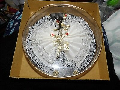 Beautiful, Vintage Boxed Handkerchief / S Lace Edged Bridal? G354-6