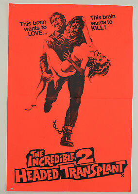THE INCREDIBLE 2-HEADED TRANSPLANT (1971) Double Crown Film Poster - Bruce Dern