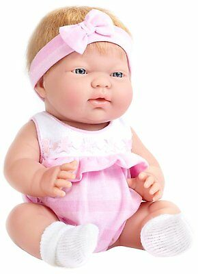 Ani Blonde Hair Blue Eyed 13'' Baby Doll by JC Toys Anatomically Correct New
