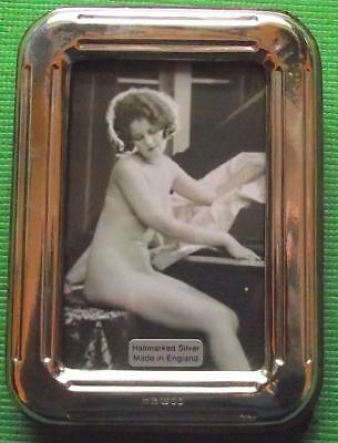 Contemporary Art Deco Hallmarked Sterling Silver Photo Frame : Xmas Valentines